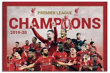 Liverpool FC Premier Campeones 2019-20 Montaje Póster Oficial 61x91.4cm