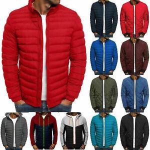 Mens Winter Bubble Down Jacket Coat Lightweight Hooded Padded Packable Outwear
