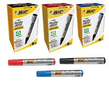 BIC PERMANENT BLACK & RED & BLUE MARKER PEN FOR MULTI USE- 2300 (THICK & THIN)