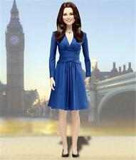 "Franklin Mint Kate Middleton Portrait of a Princess Engagement 16"" Doll Stand Bx"