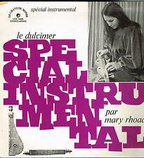 """LP 12"""" 30cms: Mary Rhoads: le dulcimer. le chant du monde. G"""