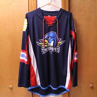 SPRINGFIELD THUNDERBIRDS AHL SI XXL HOCKEY JERSEY LACE UP 16-17 BLUE