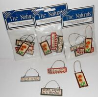 3 Packs of 4 Miniature Garden Herbs Dollhouse or Craft Crafting Painted Sign NEW