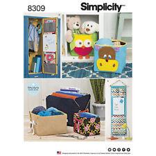 Simplicity SEWING PATTERN 8309 Hanging Organisers & Mini Storage Bins
