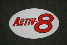 Golden Fleece 'Activ-8' oval shaped vinyl sticker for petrol bowser (small)