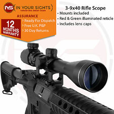 3-9x40 Airsoft sniper rifle scope with 20mm Weaver mounts / Air gun riflescope