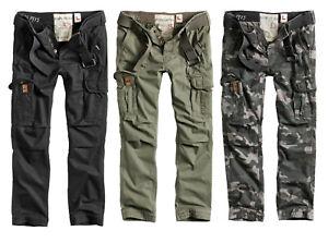 Surplus Premium Slimmy Trousers Mens Slim Fit Combat Pants Military Cargo Army
