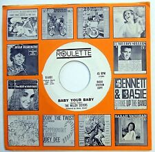 THE MILLER SISTERS vg+ 45 Baby Your Baby / Silly Girl PROMO Soul ROULETTE w1053