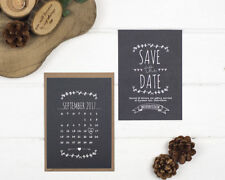 Rustic Chalkboard Save the Date Cards