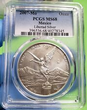 "2007-Mo LIBERTAD 1 OZ PCGS MS68  "" HIGH GRADE """