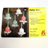 "Vintage 1978 LeeWards Petite Bells Ornament Kit - 6 1-1/2"" x 1-1/4"" Bells"