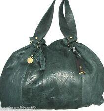 NEW JENRIGO GREEN OLIVE SNAKE PYTHON LEATHER LARGE TOTE HAND BAG+DUST BAG- ITALY
