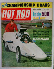 HOT ROD MAGAZINE VINTAGE 1964 AUGUST HARLEY RAIL WEDG CHEVY FORD MOPAR GM RACING