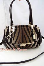 NWT Coach 26634 Madison Zebra Print Small Madeline Satchel Handbag Brown Multi