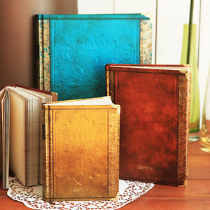 Vintage 4 Color classic notebook blank diary journal Retro note book (3 Size)