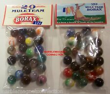 2 BAGS OF 20 MULE-TEAM BORAX LAUNDRY SOAP ADVERTISING PROMO MARBLES