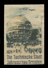 1928 Dresden -The city of Technology - the first spherical building in the world