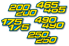 1982-1986 Yamaha IT 175 200 250 465 490 Side Panel Decals