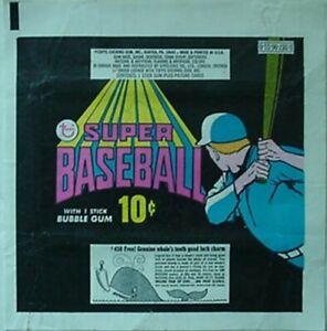1971 TOPPS SUPER BASEBALL 10¢ WRAPPER (WHALE VARIATION
