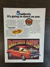 Vintage 1977 Datsun B-210 Full Page Original Color Ad