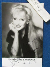 "HAND SIGNED - Stephanie Lawrence - 5.3""x3.5"" - Press Promo Photo Card - 1980's"