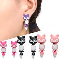 1 coppia orecchini 3D Volpe orecchino pendente accessorio bigiotteria donna fox
