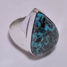 925 Sterling Silver Overlay Ring Size US 7, Gemstone Turkish Jewelry PR832