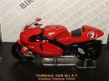 MOTO BIKE YAMAHA YZR M1 #7 CARLOS CHECA 2002 IXO RAB034 SCALE 1/24