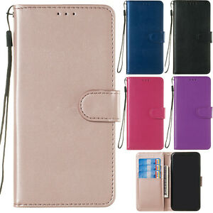 Classic Flip Magnetic PU Leather Stand Lot Card Pocket Case Cover Rubber Bumper