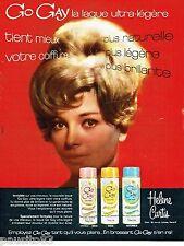 PUBLICITE ADVERTISING 106  1964   Go Gay laques  ultra-légères Helen Curtis
