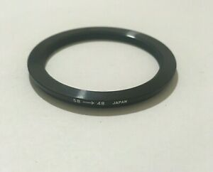 VINTAGE 58- 46MM STEP DOWN FILTER RING MADE IN JAPAN FREE SHIPPING