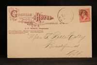 New Hampshire: Gossville 1902 Hotel Advertising Cover + Illustrated Letter
