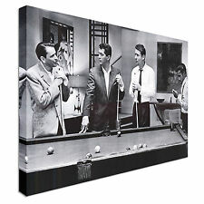 The Rat pack playing pool movie greats Canvas Wall Art Picture Print