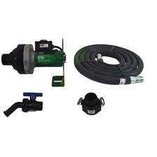 """FlowServe 12 Volt CT6 Viton Chemical Pump With Hose, Valve, Spout, Bracket, 2""""QC"""
