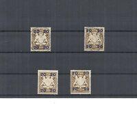 Bayern 1920, Einzelmarken, Auswahl aus Michelnrn.: 177 I/II o/**, gestem./postfr