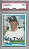 1976 Topps baseball card #429 Fred Stanley, New York Yankees graded PSA 9 MINT