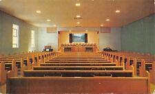 Camdenton MO~First Baptist Church Interior~Edwards Church Furniture Mfg Co~1956