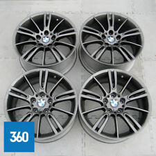 "GENUINE BMW 3 SERIES 18"" MV3 M SPORT FERRIC GREY ALLOY WHEELS SET E90 E91 E92"