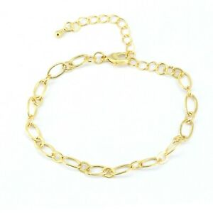 New 9ct Gold Filled Expendable Open Curb  Anklet for Ankle Foot Chain 571