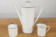 Arzberg Form 2075 Tischkern Kaffekanne Dekor Dreiecke Grau Porzellan Löffelhardt