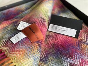 Missoni Montgomery Rainbow Chevron Plaid Throw Blanket - New In Box! MSRP: $440