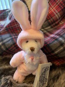 Ganz Wee Bear Village Biggles Pink Rabbit HE4283