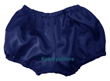 Navy Blue Women Satin Pants Pantaloons Sissy Maid Adult Baby Fits With Underwear