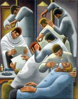 The Barber Shop : William Roberts : Circa 1934  Archival Quality Art Print
