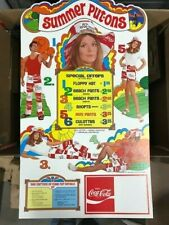1971 Coca Cola 'Summer Put-Ons' Cardboard Sign w/Order Forms - Minty condition