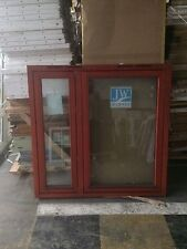 Brand New Unused Clear Glazed Timber timber window 1345mmx1320mm mahogany