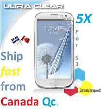5X ULTRA clear screen protector Samsung Galaxy S3 SIII film guard Transparent