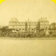 France Paris Luxembourg Palace Gardens Old Charles Gaudin Photo Stereoview 1870