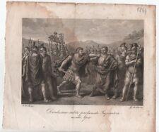 QUATTRO ANTICHE STAMPE 1840/1844 di Bartolomeo PINELLI - ROMA ANTICA