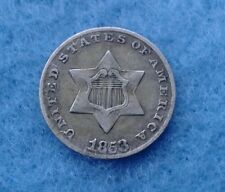 1853 USA THREE CENT PIECE